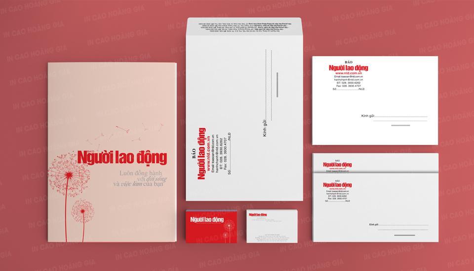 Dự án in ấn bộ nhận diện thương hiệu Báo Người Lao Động