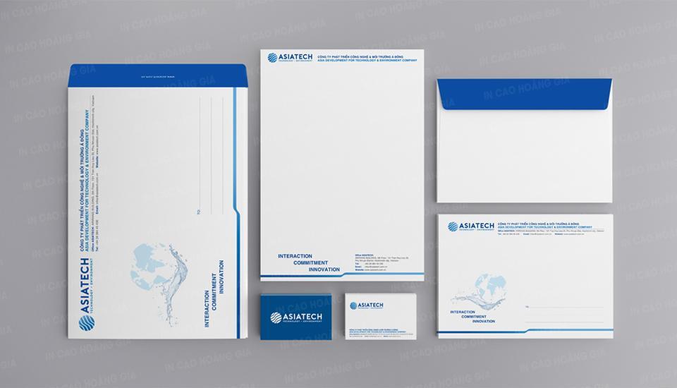 Đơn vị in bao thư và giấy tiêu đề cho tập đoàn AsiaTech tại Việt Nam